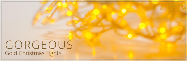 Gold Christmas Lights