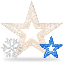 dimensional snowflake star decorations