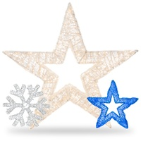 Dimensional Snowflake & Star Decorations