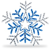 Blue and White Rope Light Snowflake