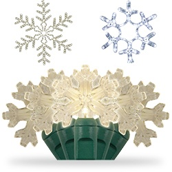 White Snowflake Lights