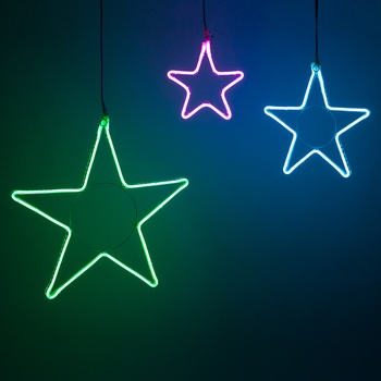 RGB LED Flexible Neon Star Lights