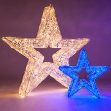 Dimensional Star Light Decorations