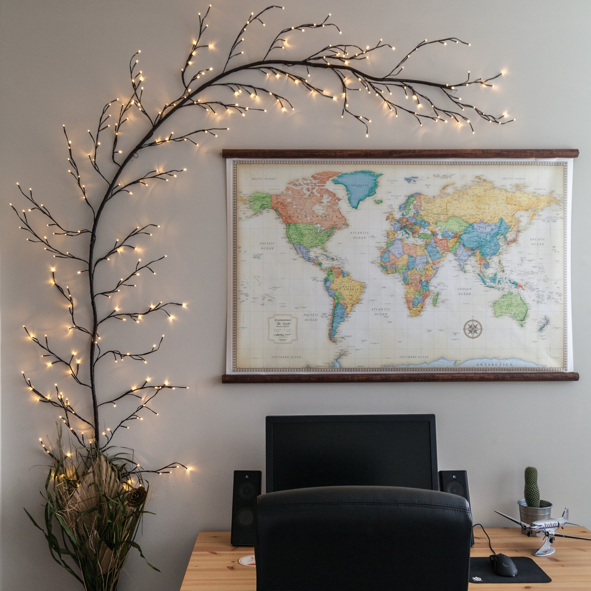 Large Tree Wall Sticker Diy Lighted Branch Wall Art Diy Do It Your Self