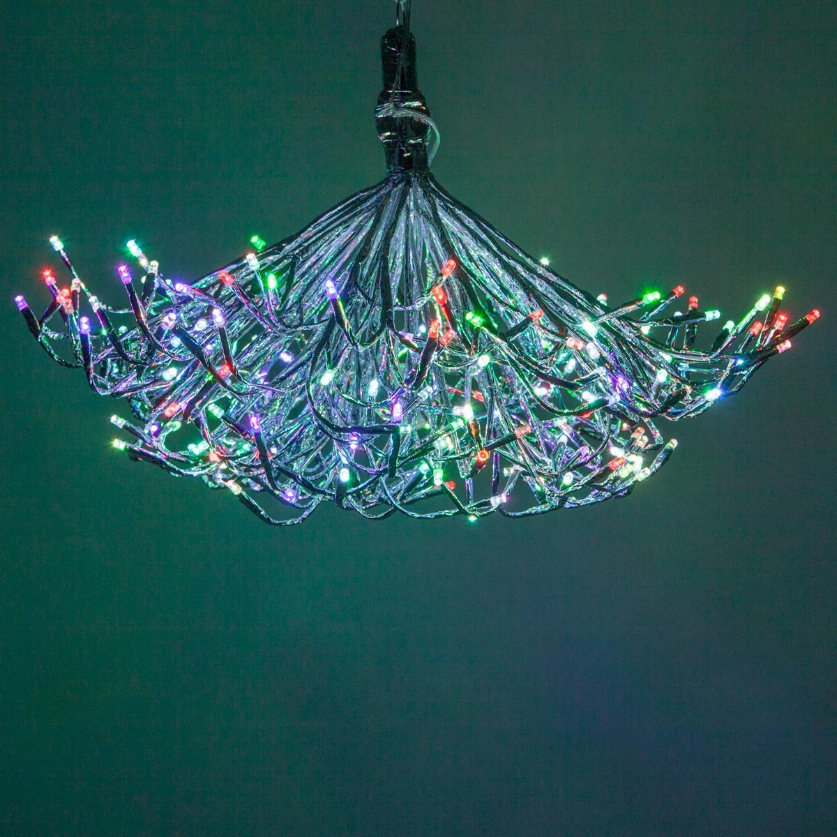 Starburst Lighted Branch DIY Chandelier