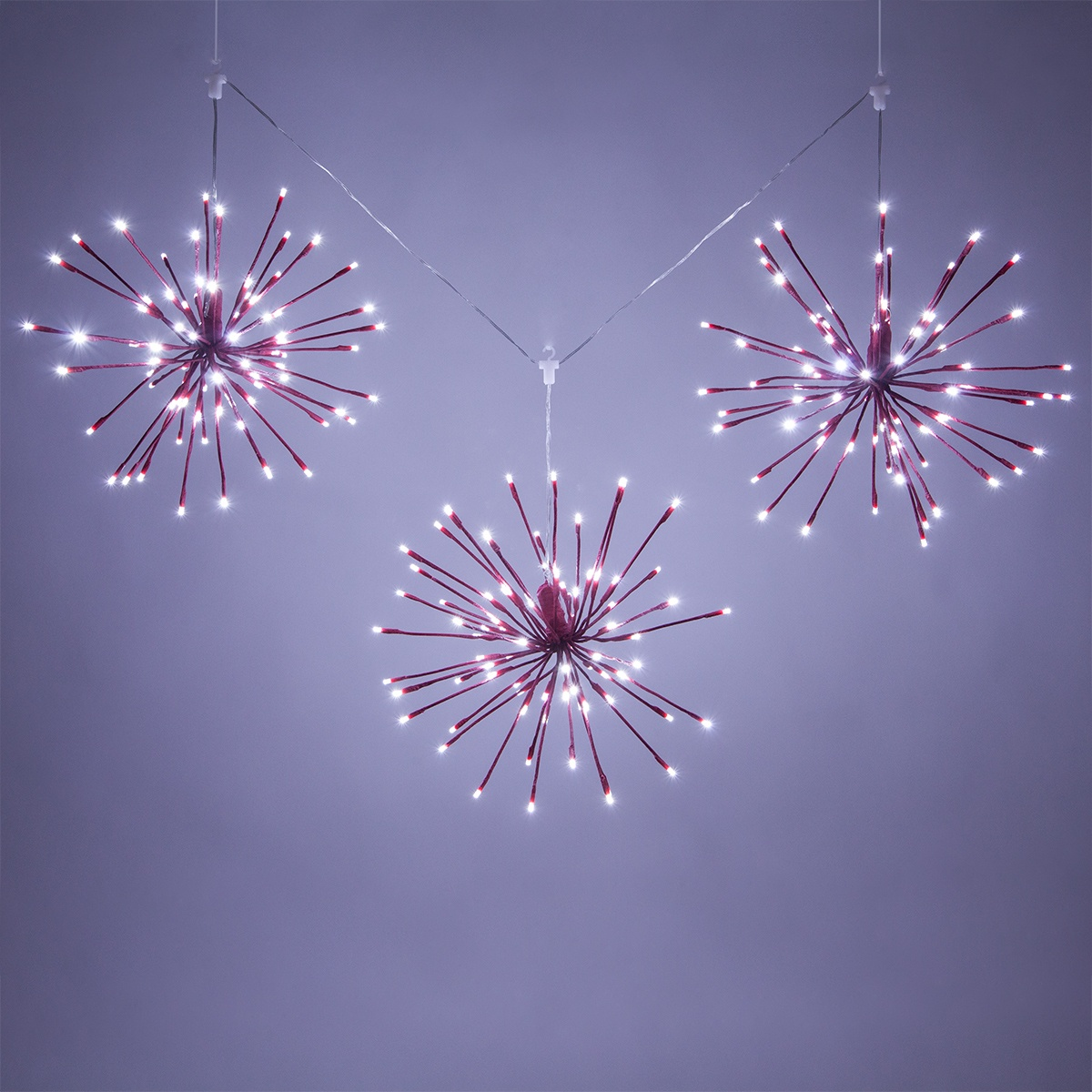 Set of 3 Starburst Lighted Branches