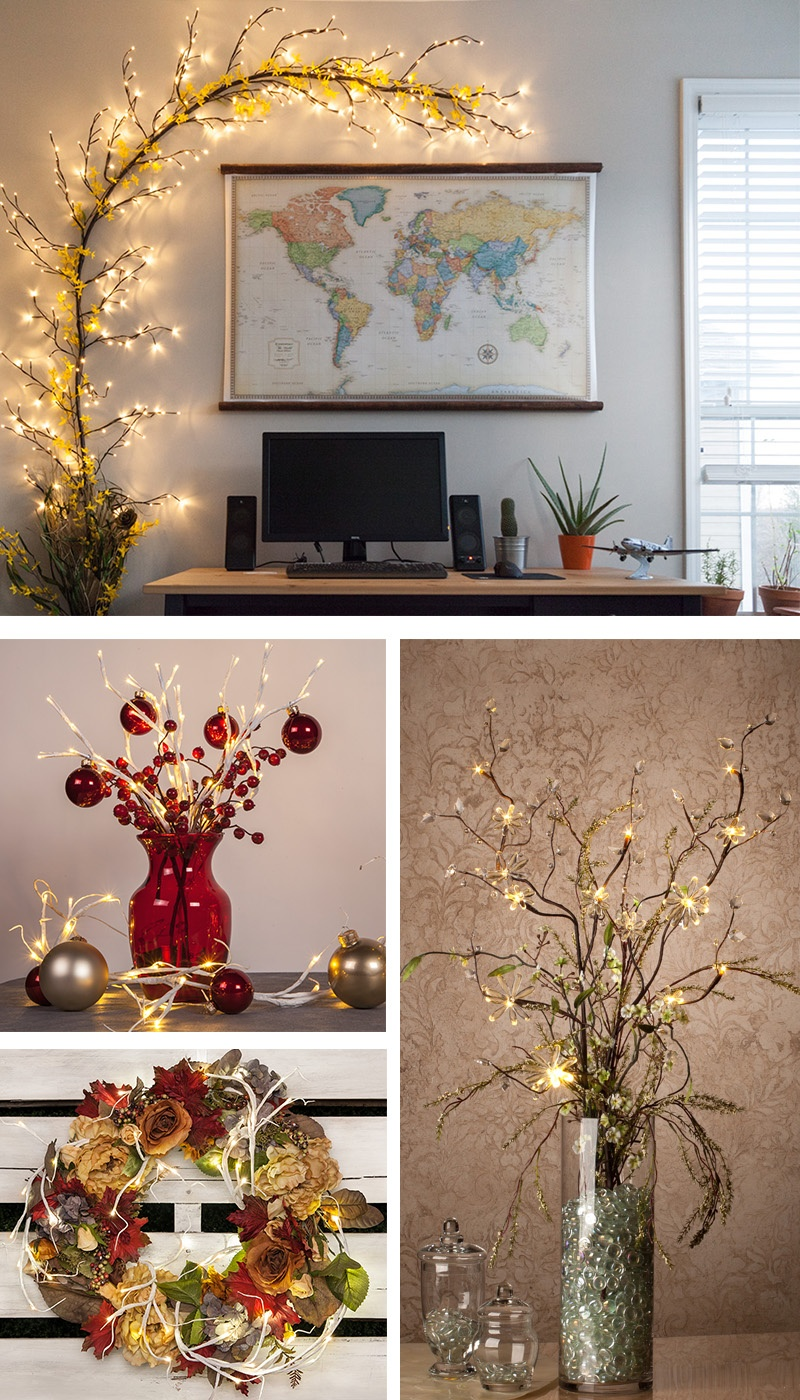 Lighted Branch Decorating Ideas