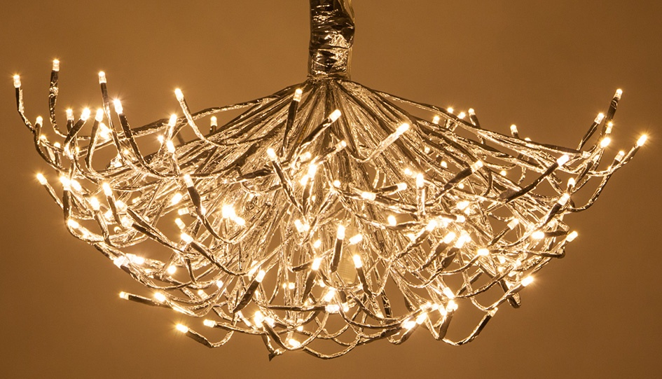DIY Starburst Chandelier Light