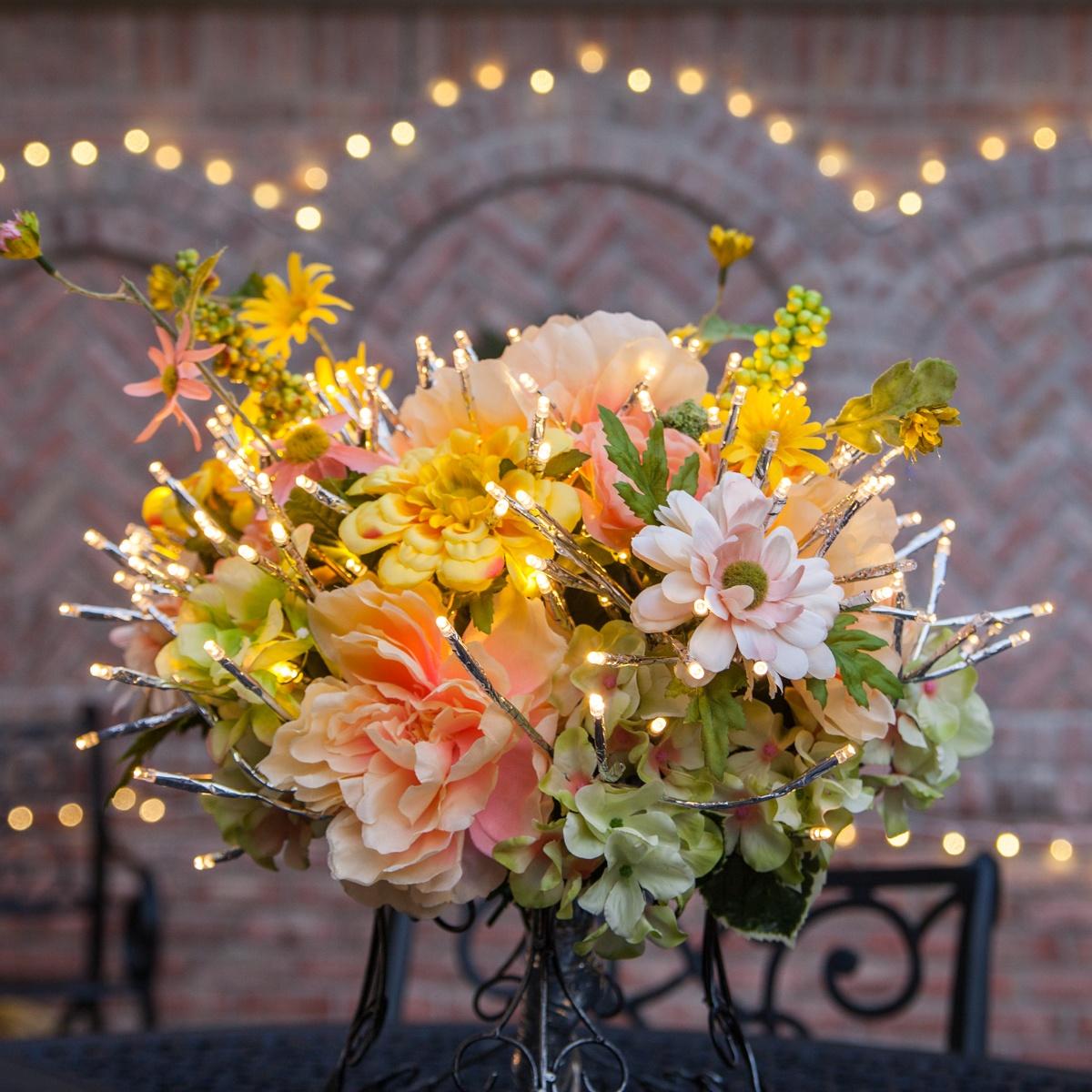 Starburst Lighted Branch DIY Flower Arrangement
