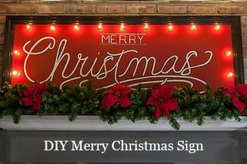 DIY Lighted Merry Christmas Sign