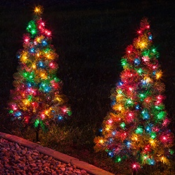 Christmas Walkway Trees