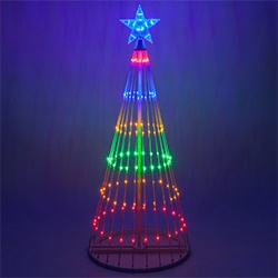 led light show trees - Teardrop Christmas Lights