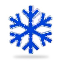 Blue Reflective Center Snowflake Light