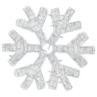 Cool White LED Dimensional Snowflake
