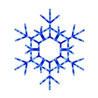 Blue LED Folding Snowflake