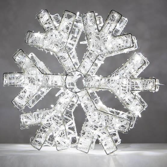 Cool White LED Snowflake Light