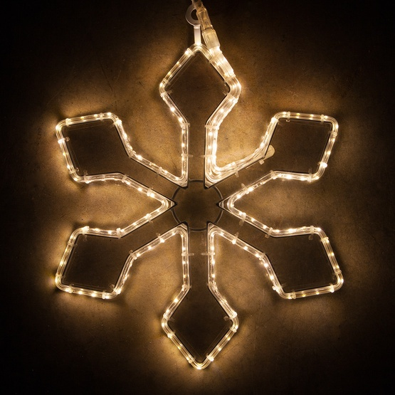 Warm White LED Snowflake Lights
