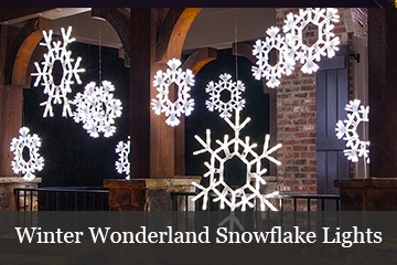 Decorating with Snowflake Lights