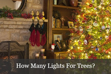 recommended number of lights for christmas trees