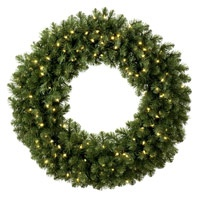Prelit Artificial Christmas Wreaths