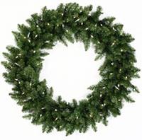 "48"" pre lit christmas wreath"