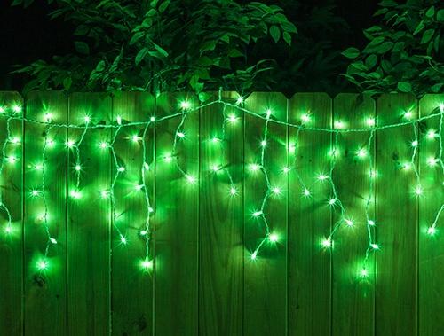Green LED Icicle Lights