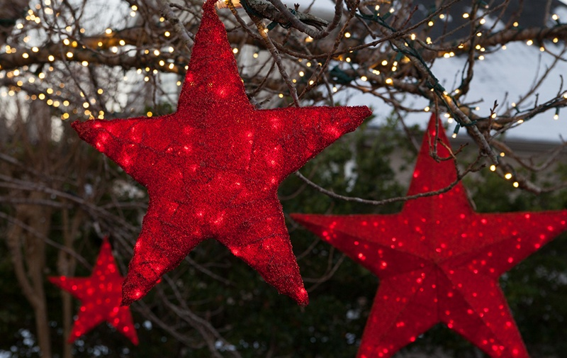 Red LED Christmas Light Stars