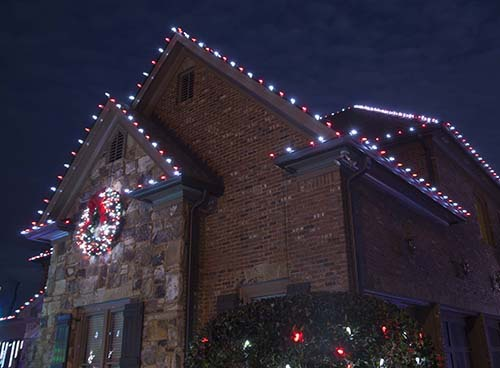 Red White Christmas Roof Lights