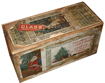 Vintage Christmas Lights Box