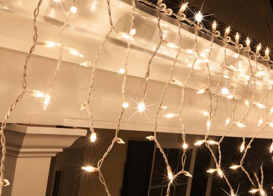 Twinkling Christmas Icicle Lights