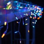 LED Color Change Icicle Christmas Lights