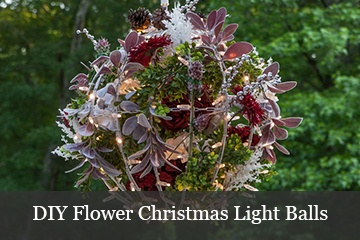 DIY Christmas Flower Light Balls