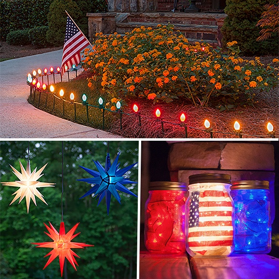 Patriotic Christmas Lights.Patriotic Outdoor Christmas Decorations Bajanews Paint Color