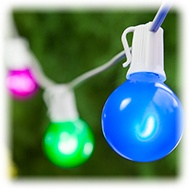 Multicolor LED Patio String Lights