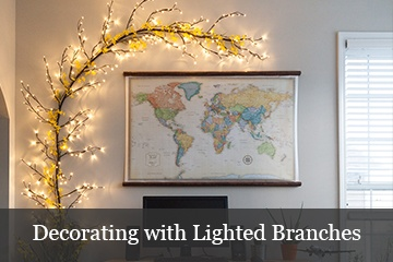 Decorating Ideas with Lighted Branches