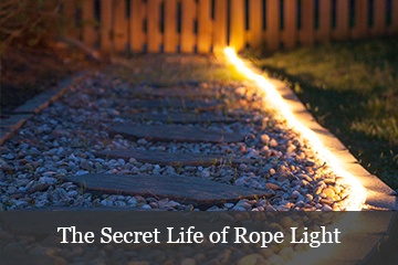 DIY Outdoor Lighting: The Secret Life of Rope Light