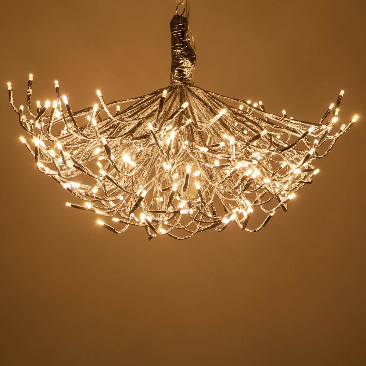 Undecorated DIY Starburst  Lighted Branches Chandelier