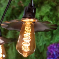 Patio Light Strings With Copper Shades