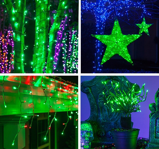 Decorating with Green Lights
