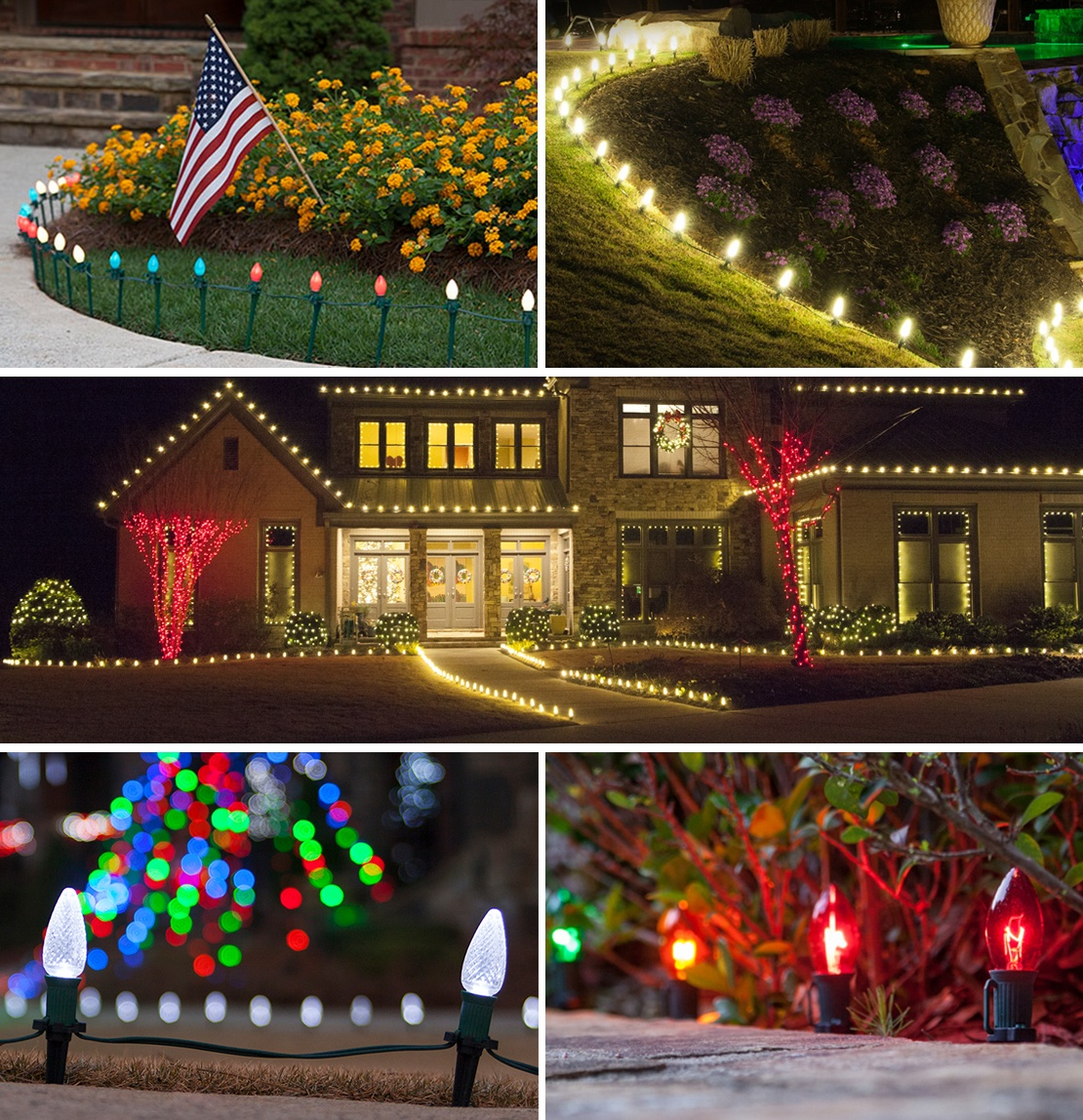 5 Pathway Lighting Tips Ideas Walkway Lights Guide: Pathway Christmas Lights