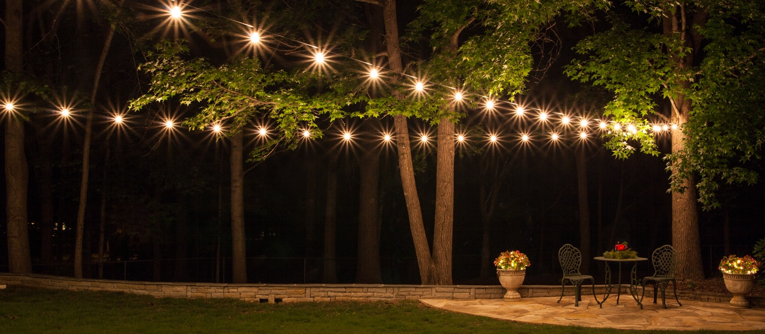 How To Hang Patio Lights Por Outdoor Lighting Ideas