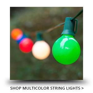 Multicolor Patio String Lights