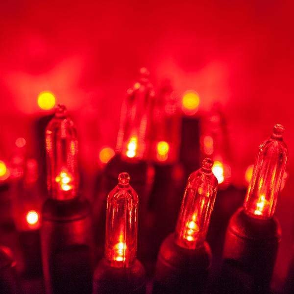Red Halloween Lights