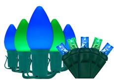Blue & Green Halloween Lights