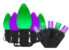 Purple & Green Halloween Lights
