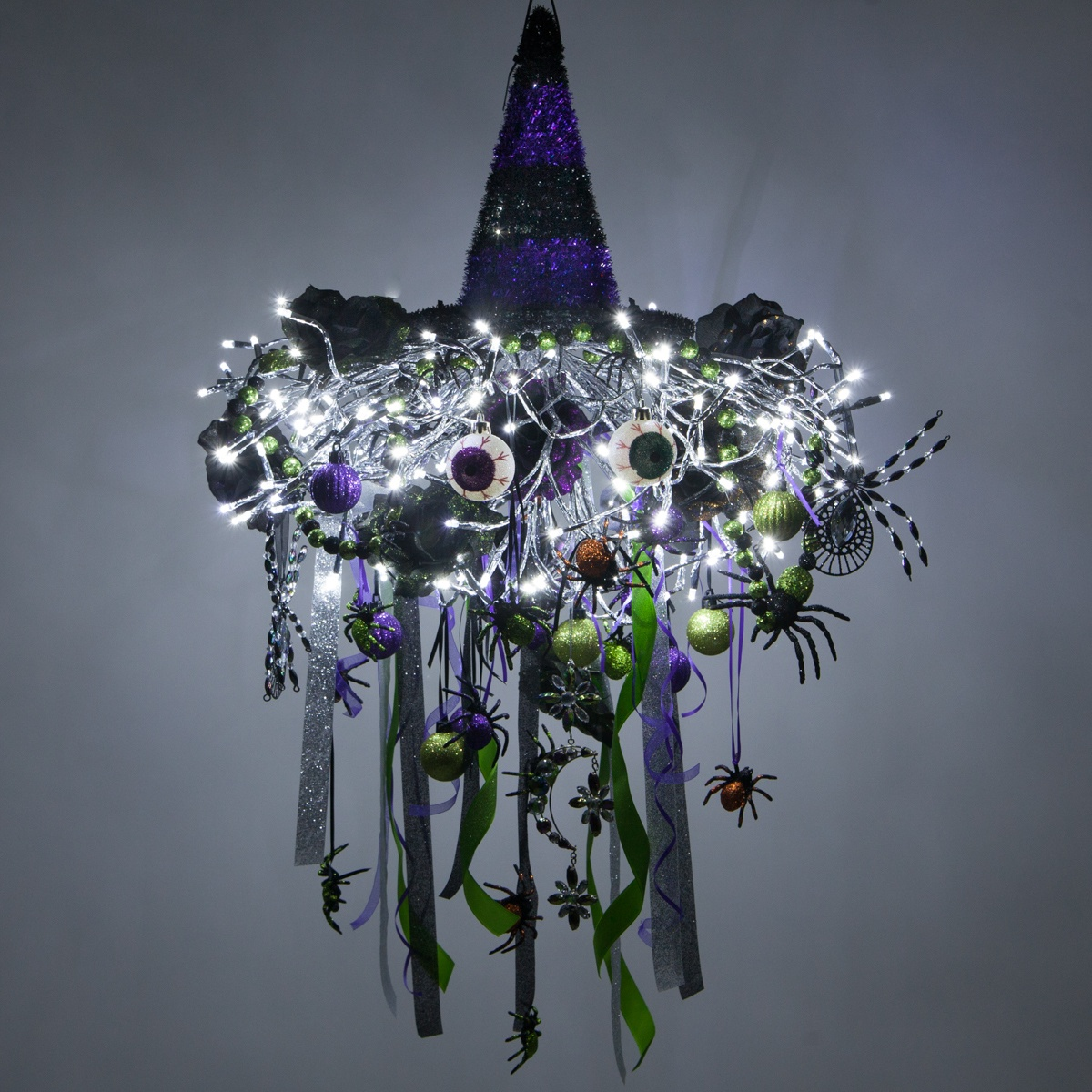 Witch Themed DIY Halloween Chandelier