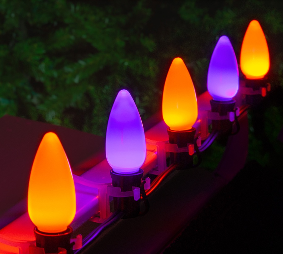 Purple & Orange Spooky Halloween Lights