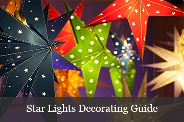 Decorating with Christmas Star Lights