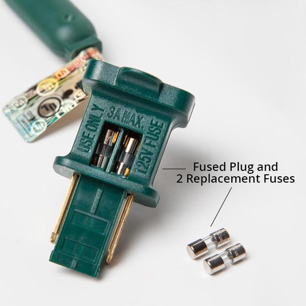 Fix Christmas lights by replacing plug fuses