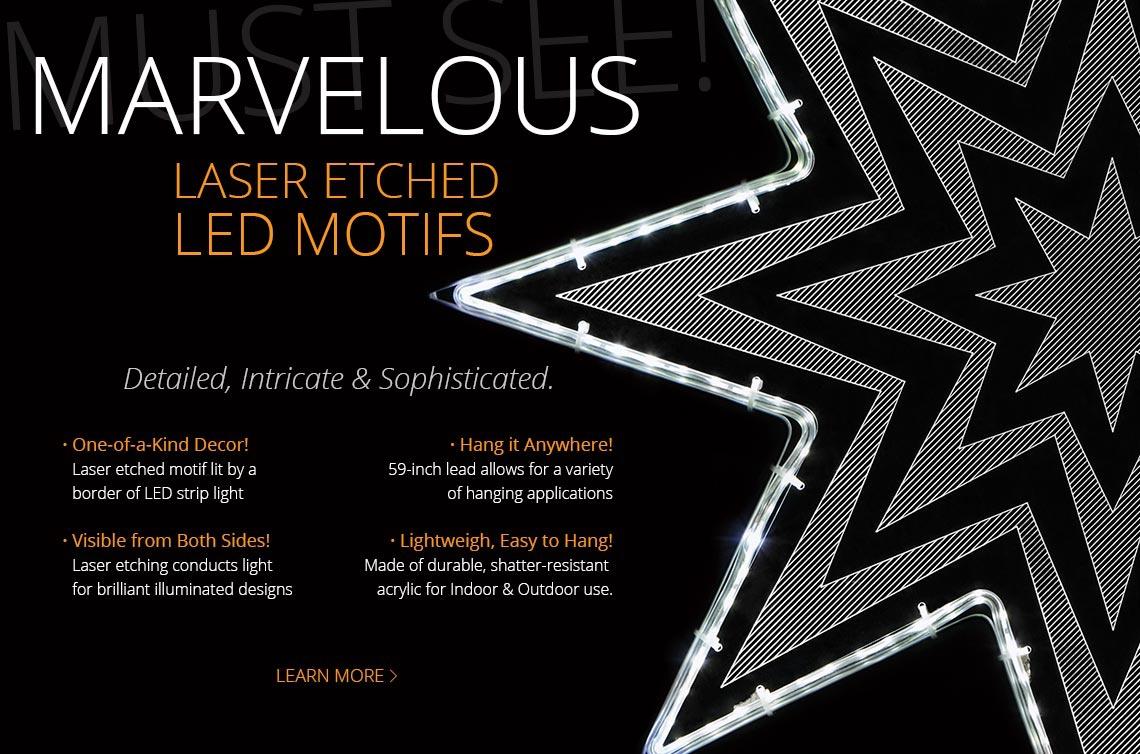 Laser Etched Motifs